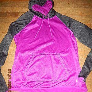 Danskin junior's purple/ heather black pullover